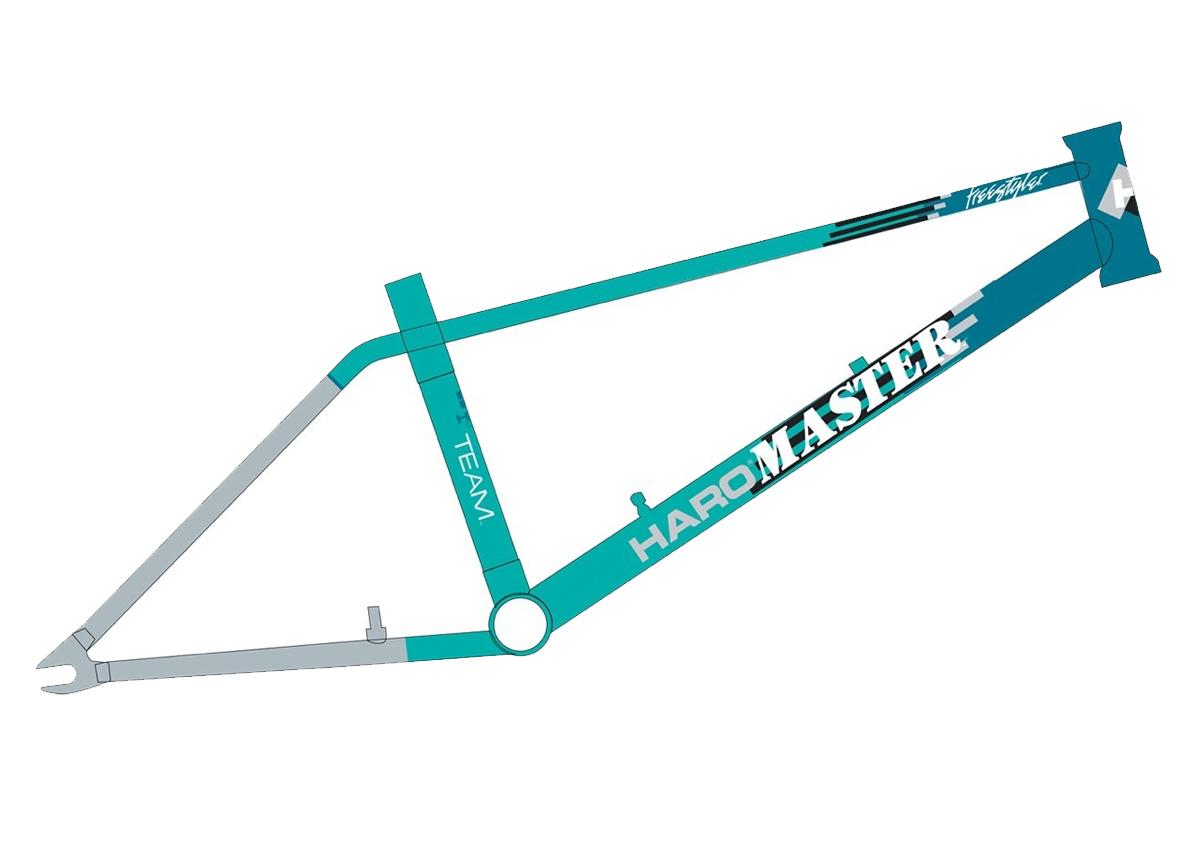 """Haro Lineage Team Master Turquoise 20.5"""" TT Frame"""