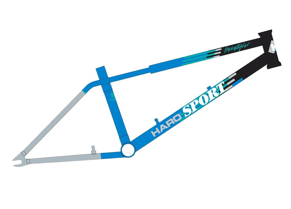 """Haro Lineage Team Sport Black/Blue 20.5"""" TT Frame"""
