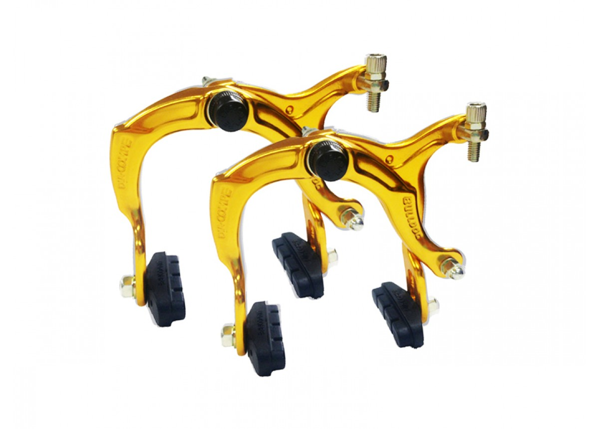 Dia Compe Old School BMX Bulldog 884 Brake Callipers Front and Rear Gold