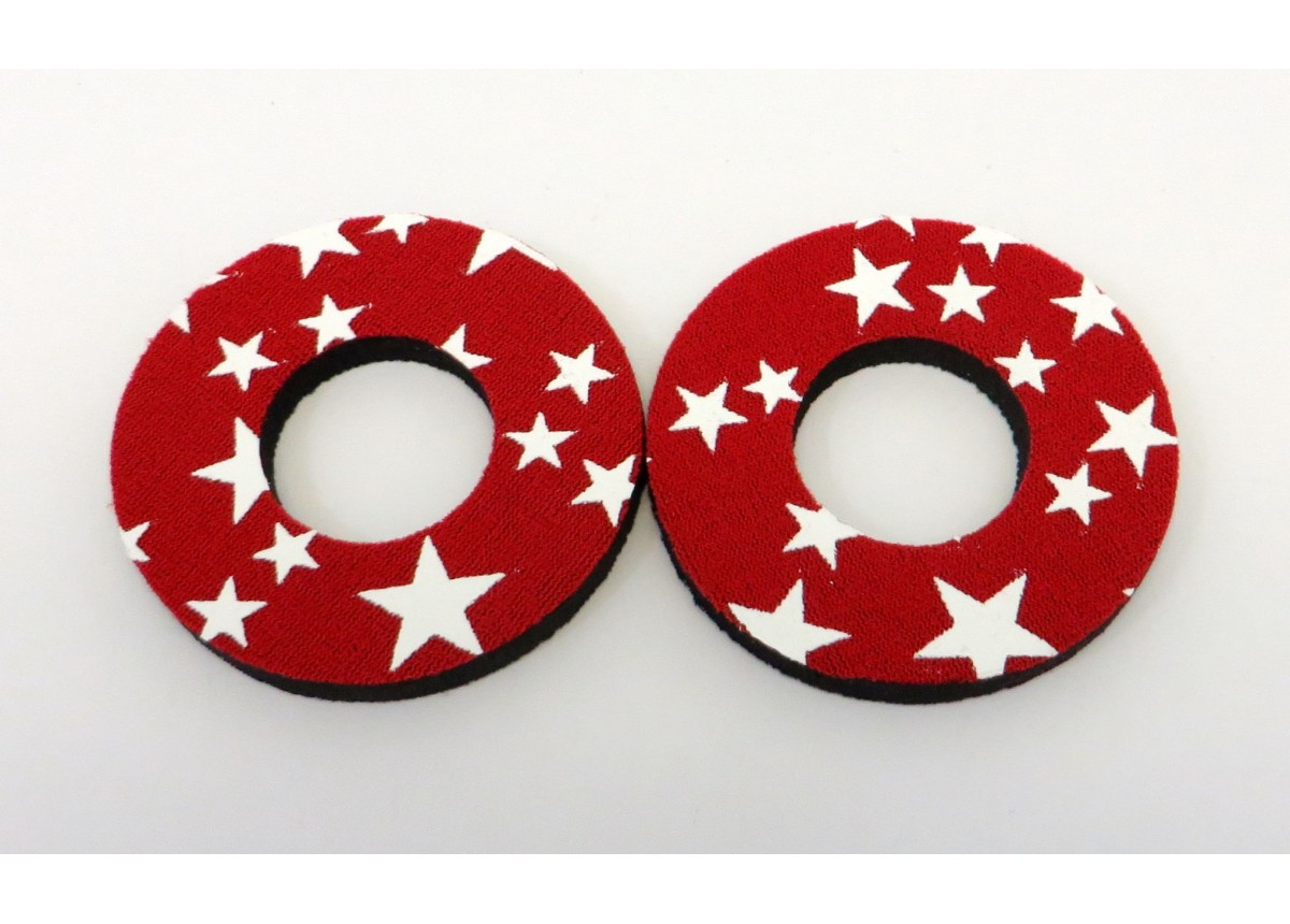 Flite Old School BMX Grip Donuts Stars Black /& White Pairs