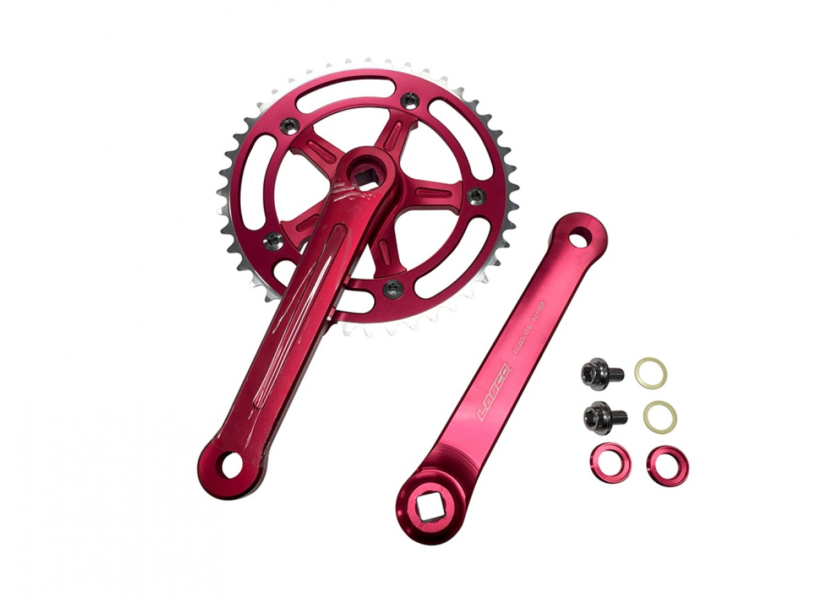 Old School BMX 3 Piece Crank Red